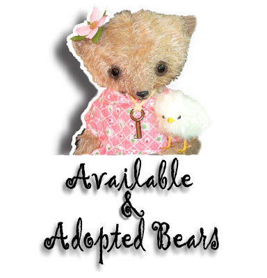 Mohair Teddy Bears by Award Winning Artist Denise Purrington - Available Now and Adopted Bears