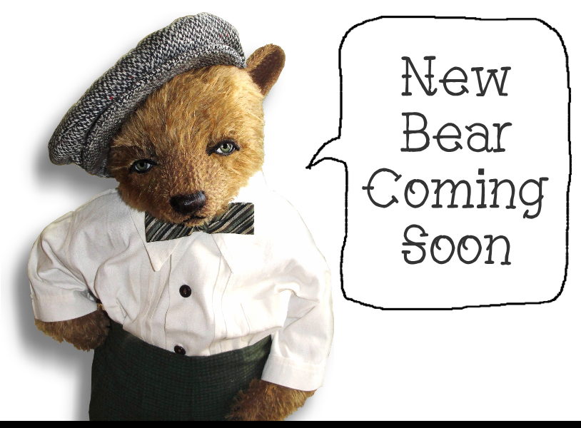 New Bear Coming Soon from Award Winning Handmade Mohair Teddy Bear Artist Denise Purrington