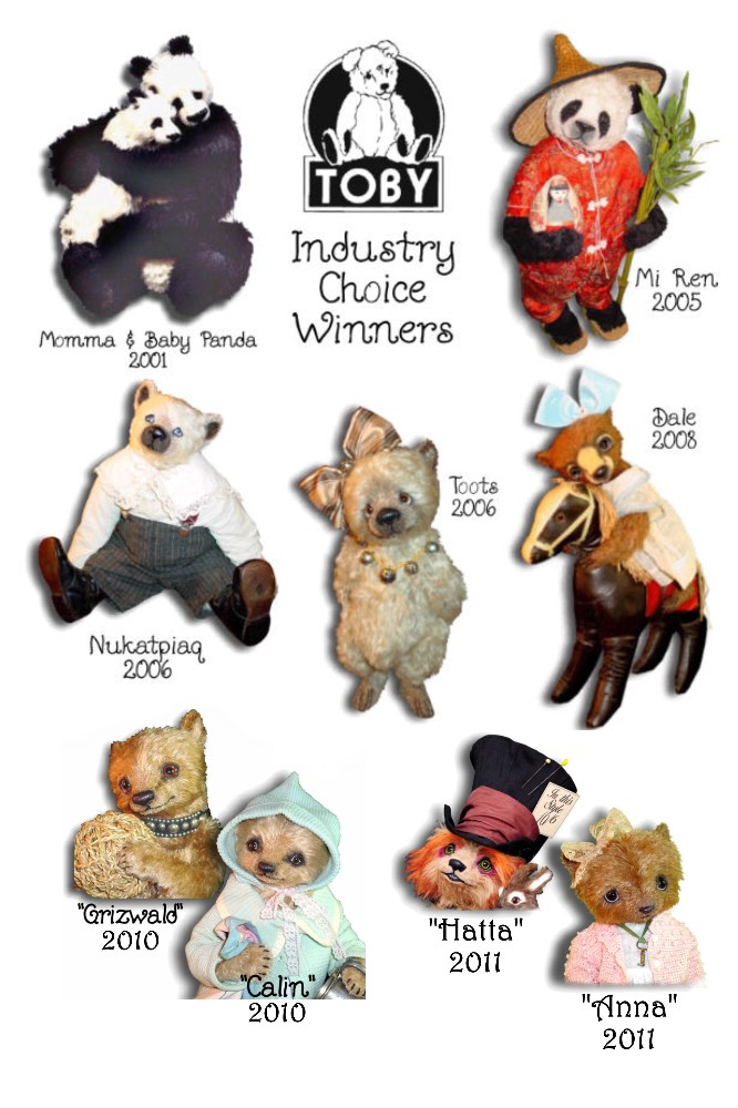 Mohair Teddy Bears by Award Winning Artist Denise Purrington - Awards