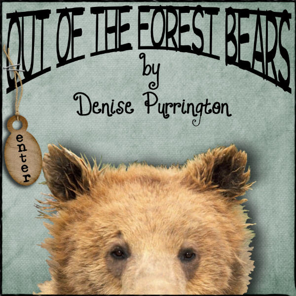 Teddy bears, Mohair bears,  Artist Bears, adopt Collectible, handmade Bruins by award winning Mohair Teddy Bear artist, Denise Purrington