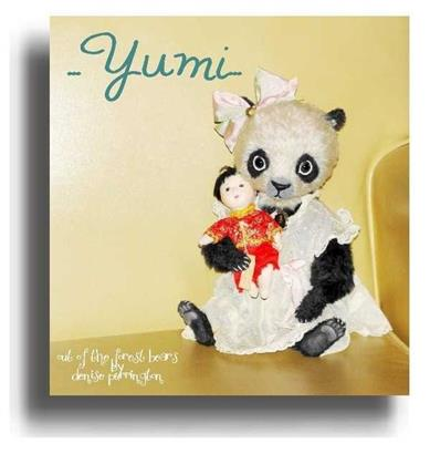 Yumi by Award Winning One Of A Kind Handmade Mohair Teddy Bear Artist Denise Purrington of Out of The Forest Bears