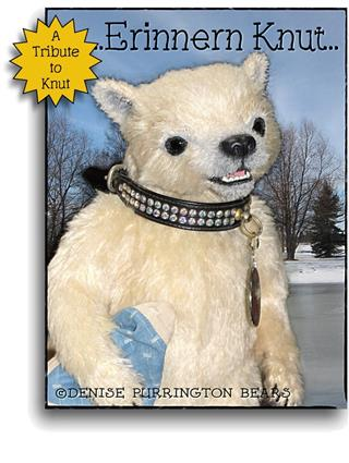 Erinnern Knut, Knut tribute mohair artist polar bear from Denise Purrington