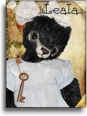 Leala - Handmade Teddy Bears, Mohair Teddy Bears, Artist Teddy Bears by Award Winning Artist Denise Purrington