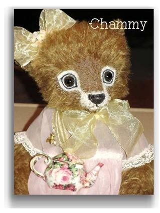 Chammy  - Handmade Teddy Bears, Mohair Teddy Bears, Artist Teddy Bears by Award Winning Artist Denise Purrington