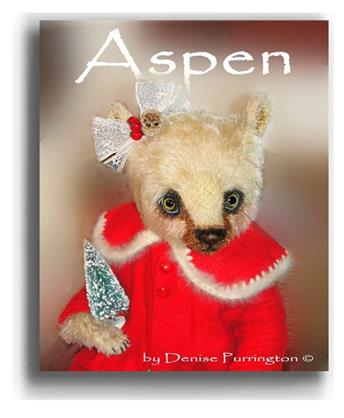 Aspen by Award Winning One Of A Kind Handmade Mohair Teddy Bear Artist Denise Purrington of Out of The Forest Bears