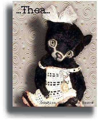 Thea  - Handmade Teddy Bears, Mohair Teddy Bears, Artist Teddy Bears by Award Winning Artist Denise Purrington