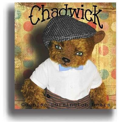 Chadwick  - Handmade Teddy Bears, Mohair Teddy Bears, Artist Teddy Bears by Award Winning Artist Denise Purrington