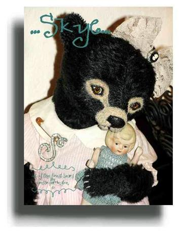 Skye  - Handmade Teddy Bears, Mohair Teddy Bears, Artist Teddy Bears by Award Winning Artist Denise Purrington