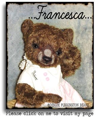 Francesca mohair artist teddy bear available for immediate adoption from Denise Purrington